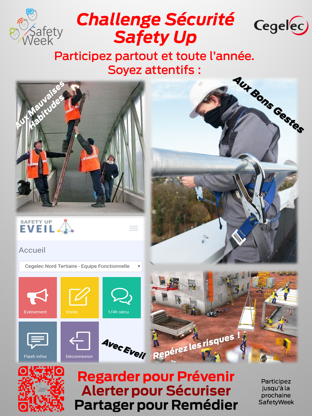 Affiche safety Up Cegelec